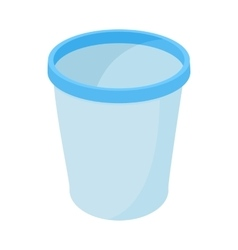 Trash basket icon cartoon style vector
