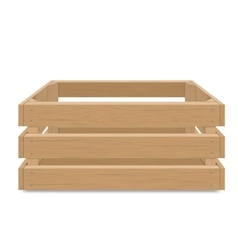 Empty wooden box for fruits and vegetables vector image