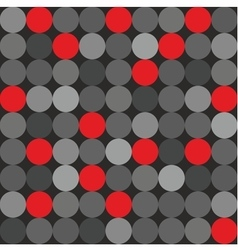 Tile pattern big red grey and black polka dots vector