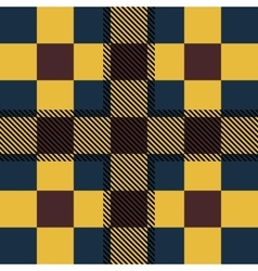 Set seamless british tartan pattern plaid brown vector