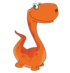 orange dino vector image