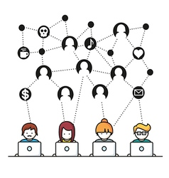 Social media network people vector