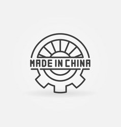 abstract made in china symbol vector image vector image