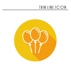 Balloon air balloon icon party celebration vector