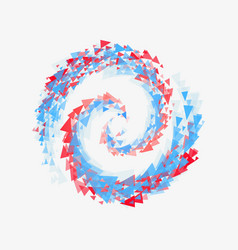 Beautiful swirl triangles symbolizes the mixing of vector