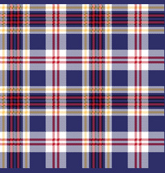 Blue tartan plaid seamless fabric texture vector