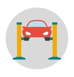 Car lifting flat icon vector