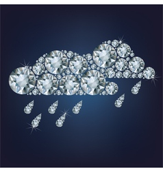 Clouds made up a lot of diamonds vector image vector image