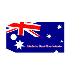 Coral sea islands flag on price vector