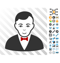 Croupier manager cards with bonus vector