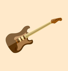 Electric stratocaster guitar graphic vector