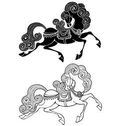 Fabulous horse vector image
