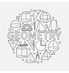 Geometry round symbol vector image vector image