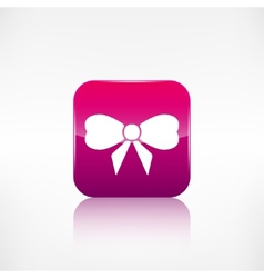Gift christmas bow web icon application button vector