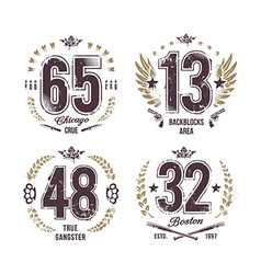 Grunge Numbers vector image vector image