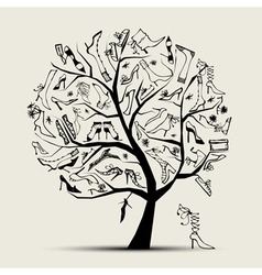 high fashion shoe tree vector image