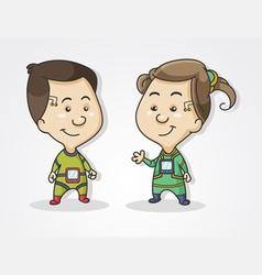 kiber child vector image