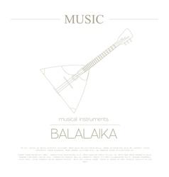 Musical instruments graphic template Balalaika vector image vector image