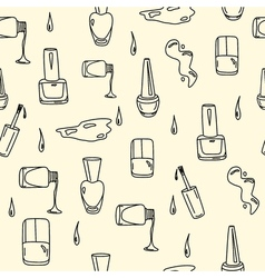 Nail polish seamless pattern vector
