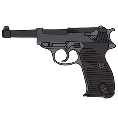 Old handgun vector