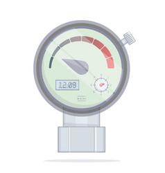 pressure sensor manometer vector image