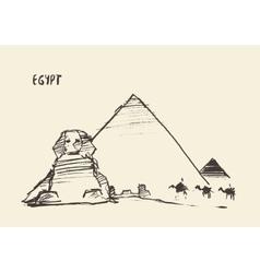 Pyramids great sphinx giza cairo egypt vector
