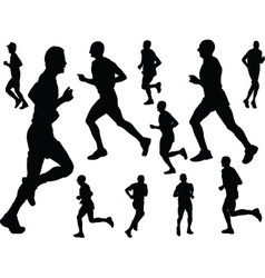 running people - vector image vector image