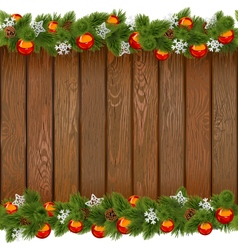Seamless christmas board with red balls vector