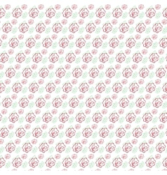 Seamless pattern of stylized flowers vector image