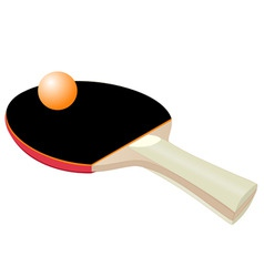 table tennis bat vector image vector image