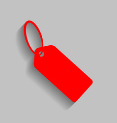 tag sign red icon with soft vector image vector image