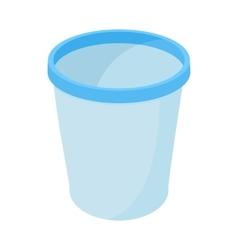 Trash basket icon cartoon style vector image vector image