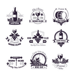 Wine club house icon templates for vector