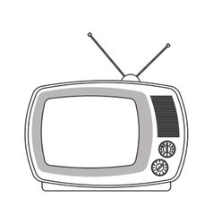 Retro classic tv with antenna icon vector