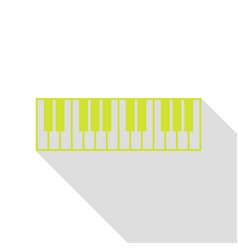 Piano keyboard sign pear icon with flat style vector
