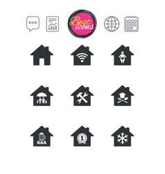 real estate icons home insurance sign vector image