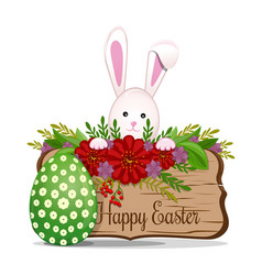 easter design easter bunny with easter egg vector image