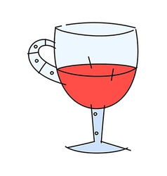 Icon wine vector