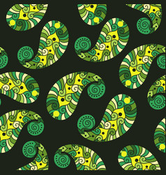 Seamless pattern of indian paisley vector