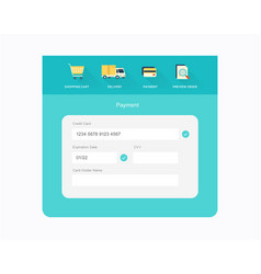 flat checkout design vector image