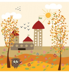 Autumn farm vector