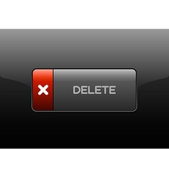 Delete button vector