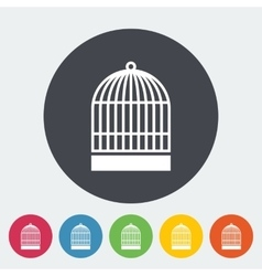 Cage flat icon vector