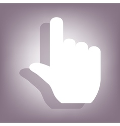 Hand icon with shadow vector