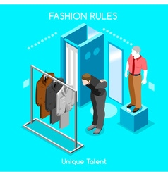Fashion moods 04 people isometric vector