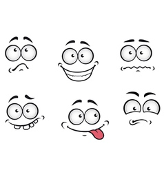 Cartoon emotions faces vector