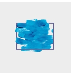 Chaotic blue round spot of paint vector