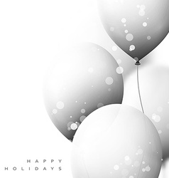 White balloons background for holiday cards vector