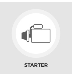 Automotive starter flat icon vector