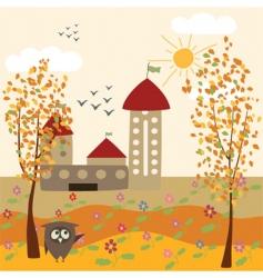 Autumn farm vector